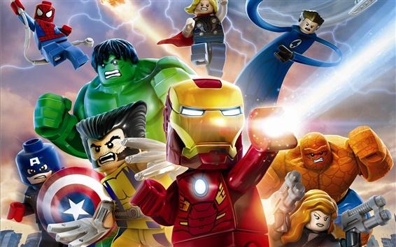 Wallpaper Lego Marvel Super Heroes
