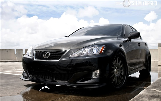 Wallpaper Lexus IS350 black car
