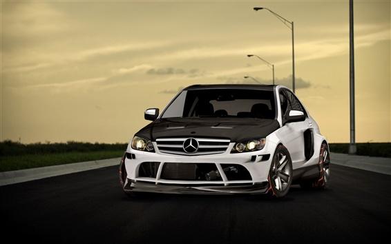 Wallpaper Mercedes Benz AMG at the road
