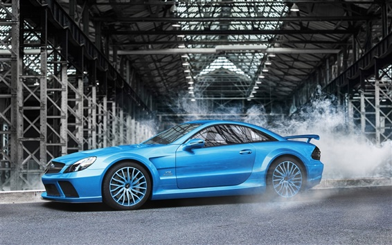 Wallpaper Mercedes-Benz SL-Klasse 65 AMG blue car