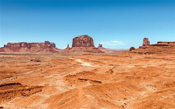Wallpaper Monument Valley, desert, rocks, Utah, Arizona, USA
