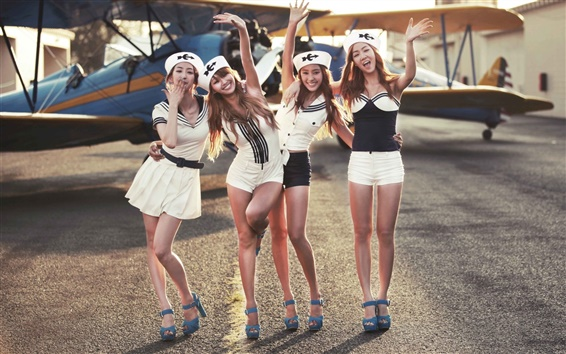 Wallpaper SISTAR, four korean music girls