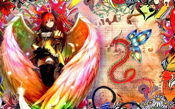 Wallpaper Shakugan no Shana, anime angel girl