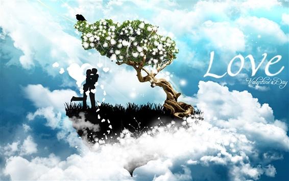 Fond d'écran Saint Valentin, l'amour, la conception créative