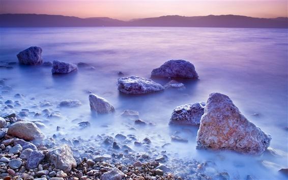 Wallpaper Dead Sea sunset scenery