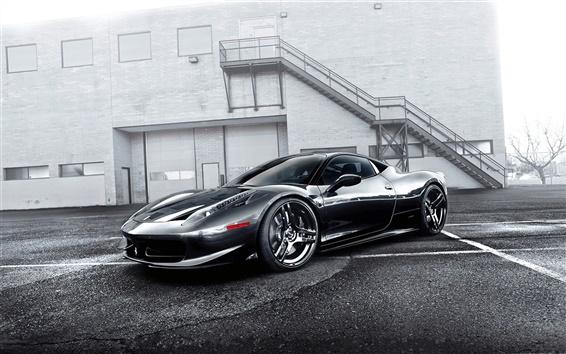 Fondos de pantalla Ferrari 458 Italia gris supercar