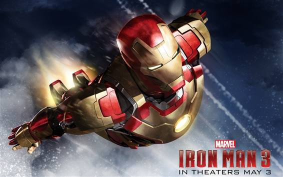 Wallpaper Iron Man 3, 2013 movie HD
