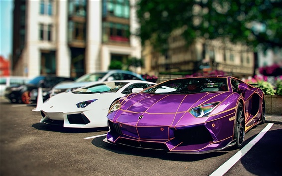 Wallpaper Luxury and beautiful Lamborghini Aventador supercar