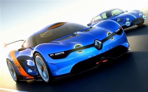 Papéis de Parede Renault Alpine A110-50 Concept supercarro, vista frontal