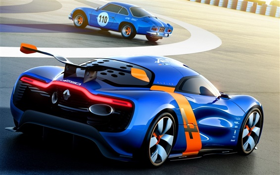 Wallpaper Renault Alpine A110-50 Concept supercar in track