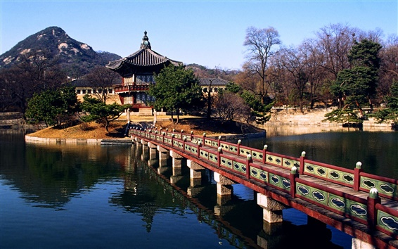 Обои Южная Корея ландшафтный парк