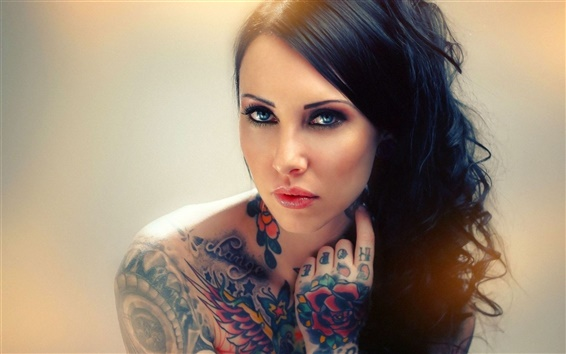 Wallpaper Tattoos girl