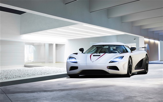Fondos de pantalla 2013 Koenigsegg Agera R blanco supercar