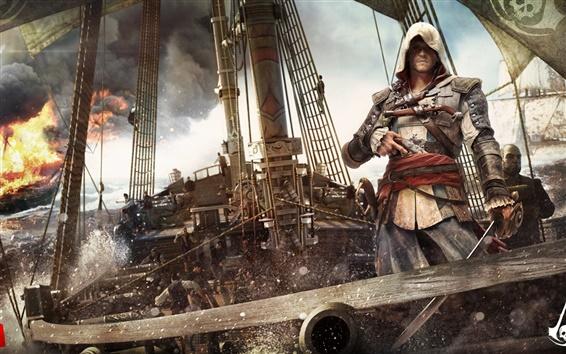 Обои Кредо Убийцы 4: Black Flag, корабля, океана