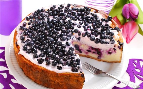 Wallpaper Blueberries cake