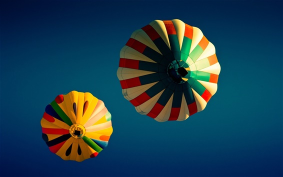 Wallpaper Colorful hot ballons in blue sky
