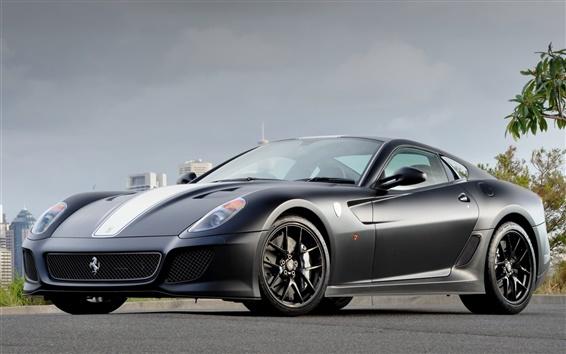 Обои Ferrari 599 GTO серые суперкар