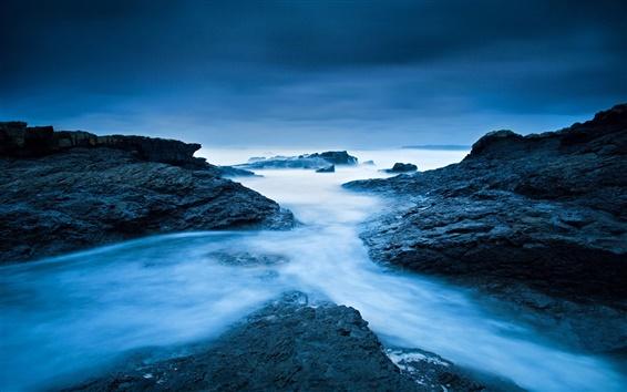 壁紙 アイルランド、大西洋、海、岩、青の色