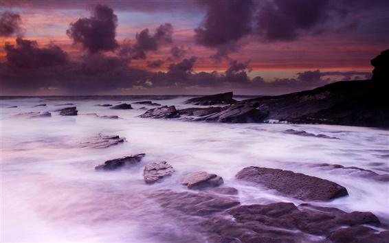 Fondos de pantalla Irlanda del paisaje, costa oeste, el océano, las piedras