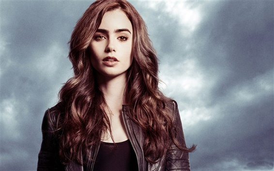 Wallpaper Lily Collins 03