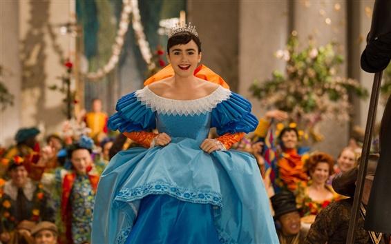 Wallpaper Lily Collins, beautiful princess, Mirror Mirror movie