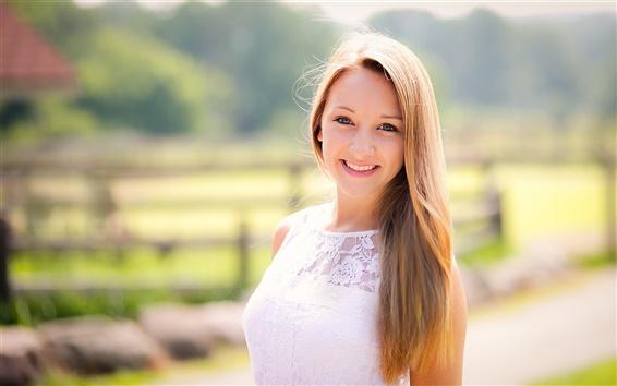 Wallpaper Nature sunlight smiling girl