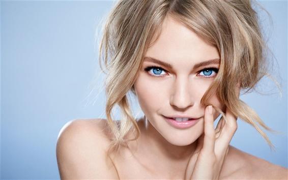 Wallpaper Pure girl, blue eyes