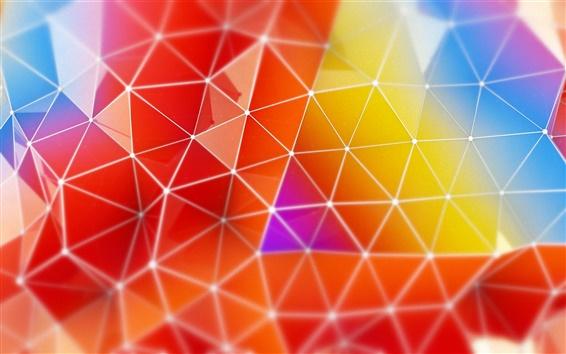 Обои Отображения абстрактные цвета треугольник