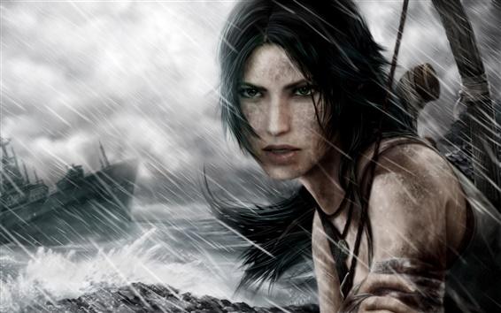 Fondos de pantalla Tomb Raider, Lara Croft, el día de la tormenta