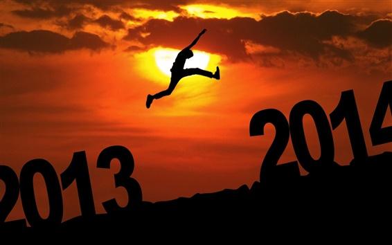 Обои 2013 2014 прыжок, закат, небо, облака, людей, творческих фотографий