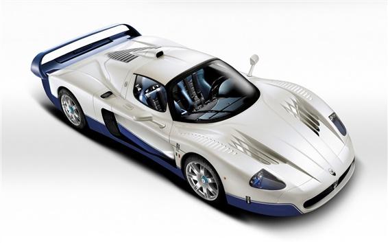 Wallpaper 3D render Maserati MC12 supercar