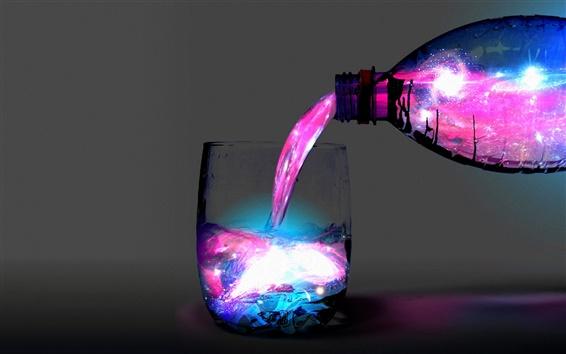 Papéis de Parede Resumo cores de luz copo respingo