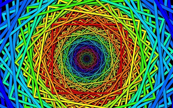 Papéis de Parede Quadros abstratos, linhas, cores, padrão