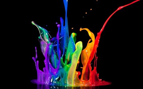 Fondos de pantalla abstracción arco iris salpicaduras de pintura