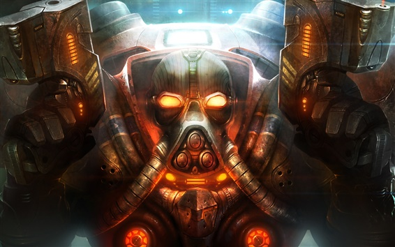 Wallpaper Art pictures, StarCraft II, warrior, armor, weapons