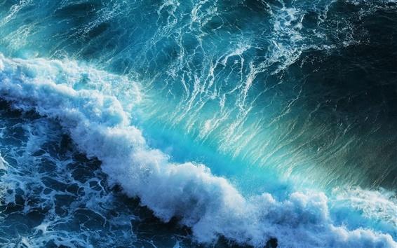 Wallpaper Beautiful blue sea waves