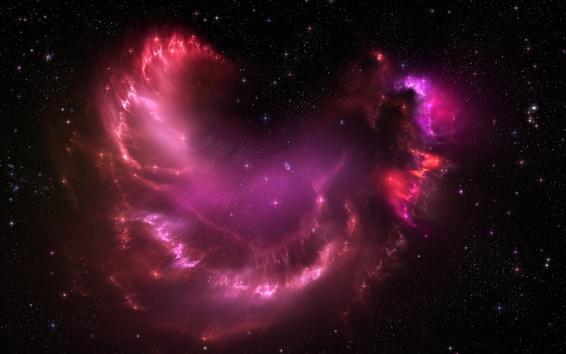 Fondos de pantalla Estrellas rosadas hermosas nubes en el espacio