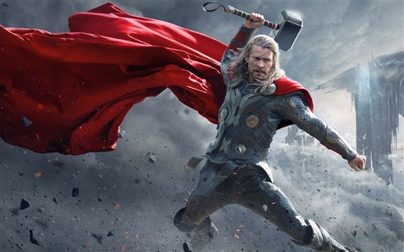 Wallpaper Chris Hemsworth in Thor: The Dark World 2013