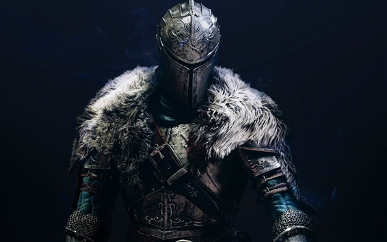Wallpaper Dark Souls 2, warrior, black background