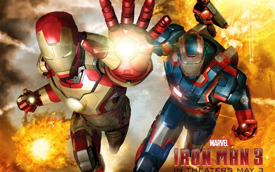 Fond d'écran Iron Man 3, armure différente