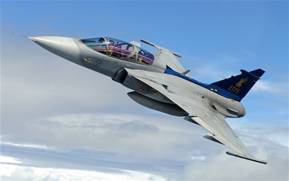 Wallpaper JAS 39 Gripen multi-purpose fighter