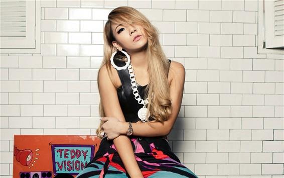 Обои Корея музыку девушки, Вера Ли 01