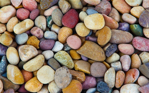Wallpaper Many stones, colorful pebbles