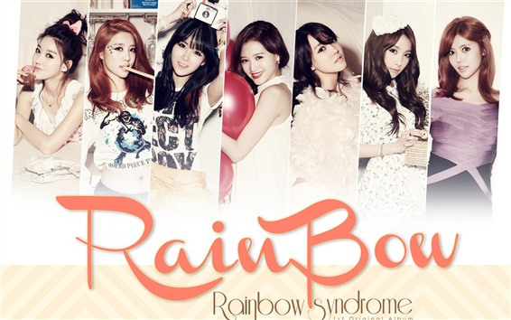 Wallpaper Rainbow Korean music girls 01