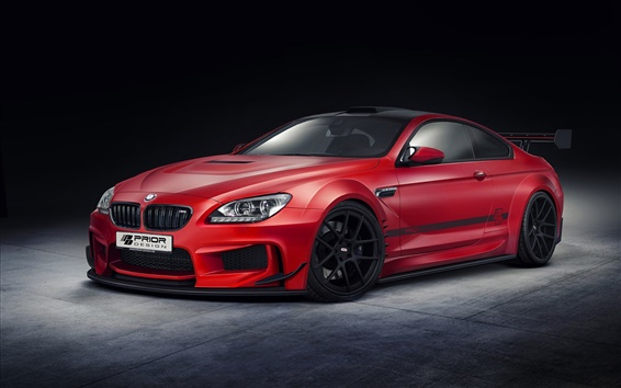 Fond d'écran BMW M6 conception de la voiture rouge