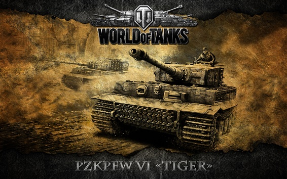 Wallpaper World of Tanks, heavy tank, German Tiger Tank