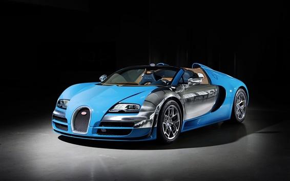 Обои 2013 Bugatti Veyron 16.4 синий суперкар
