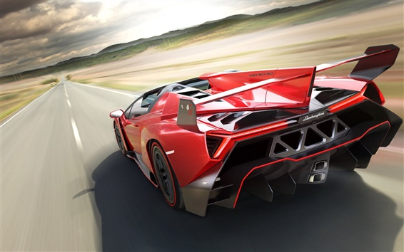 Wallpaper 2014 Lamborghini Veneno Roadster supercar