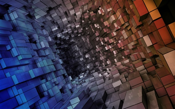 Wallpaper Abstract cubes channel