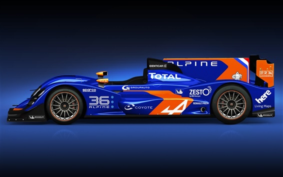 Wallpaper Alpine Nissan N 36 blue F1 car